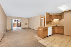 Woodhaven East Apartments kitchen and living room