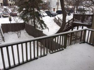 1507 E 3rd Street backyard and deck